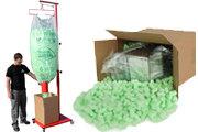 Zelený Flo-Pak s přístrojem pro plnění